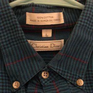 Vintage Christian Dior button up men's size large